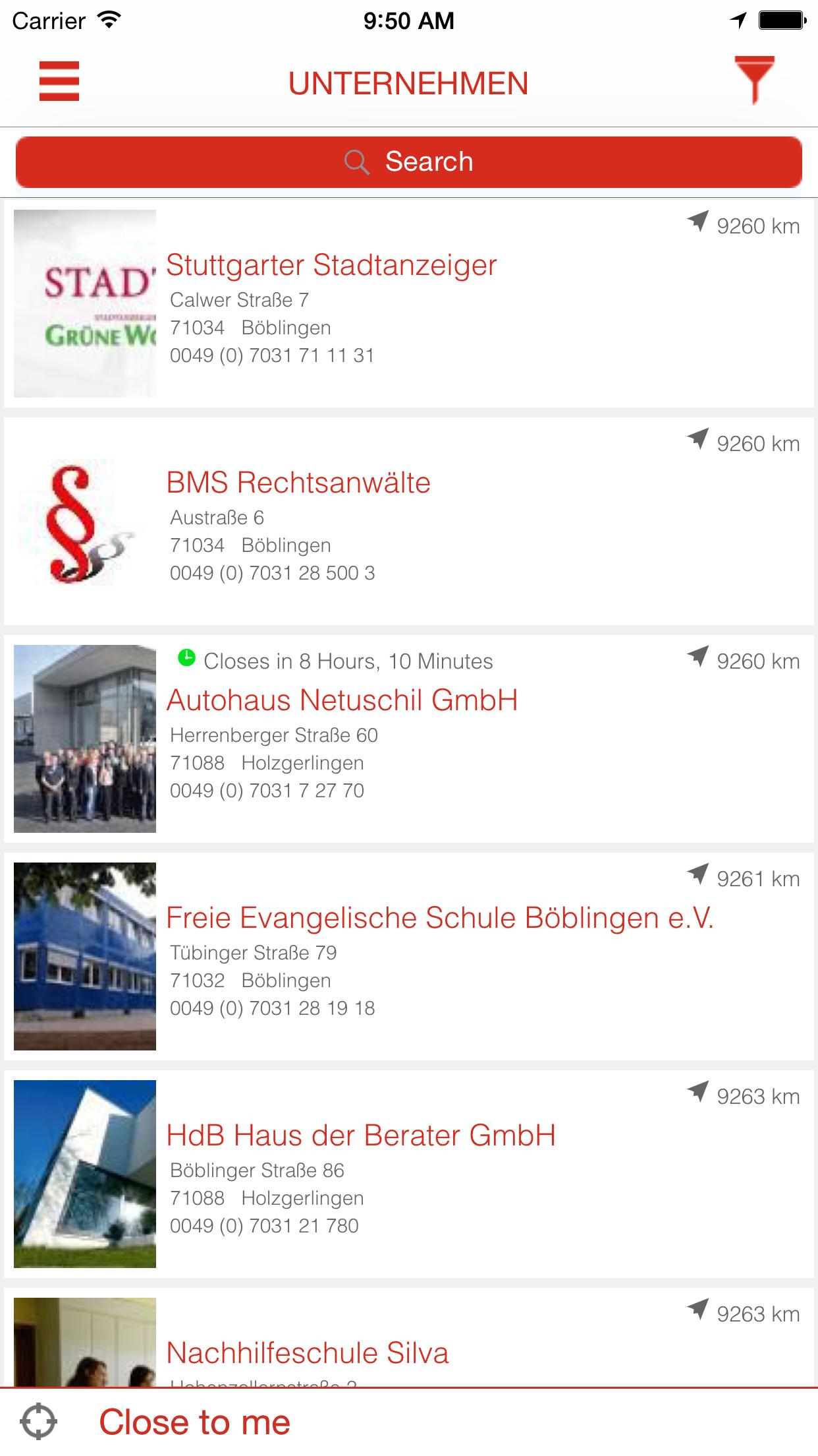 Mobiles Branchenbuch