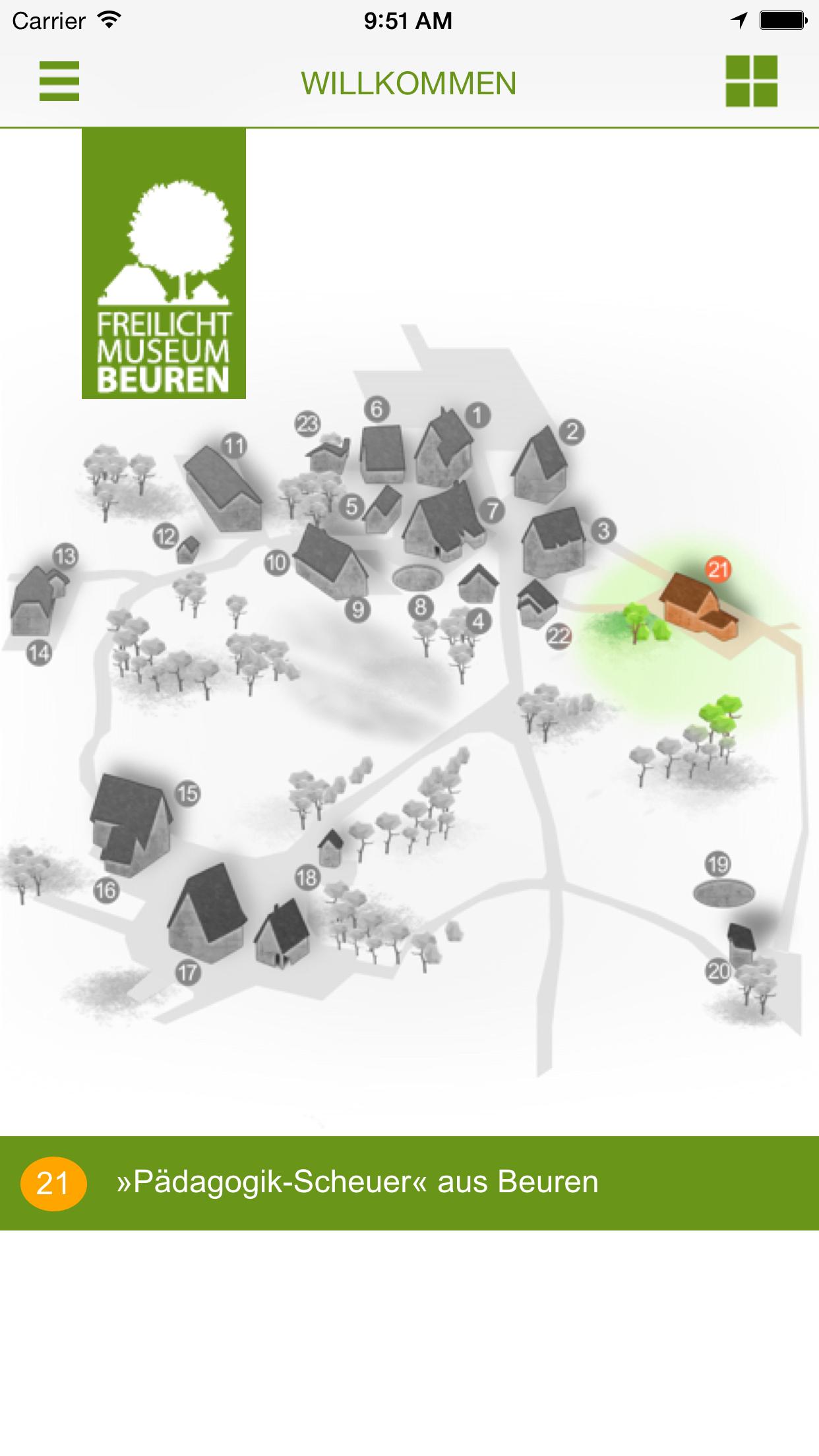 Freilichtmuseum Beuren Interaktive Karte